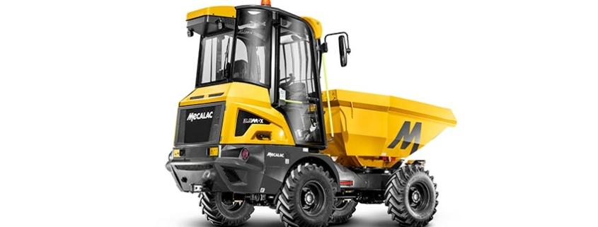 Mecalac lanza su innovador dúmper de obra con cabina 3.5MDX