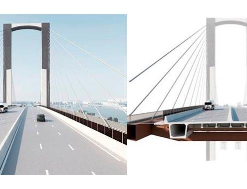Mitma adjudica obras de sustitución de tirantes del Puente del Centenario