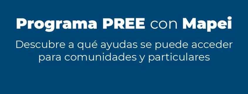 Accede al Programa de rehabilitación PREE con Mapei