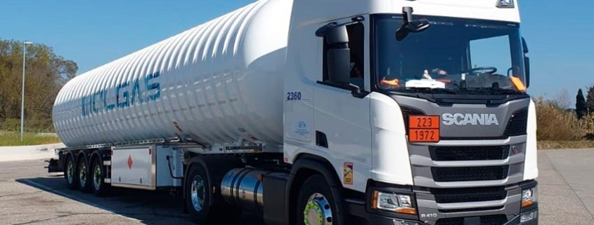 Molgás Energía incorpora 5 Scania de GNL a su flota