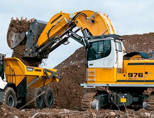 Dos nuevas excavadoras libre de emisiones de Liebherr: las excavadoras eléctricas sobre cadenas R 976-E y R 980 SME-E