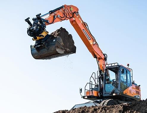 Nueva generación de excavadoras de ruedas DX140W-7 y DX160W-7