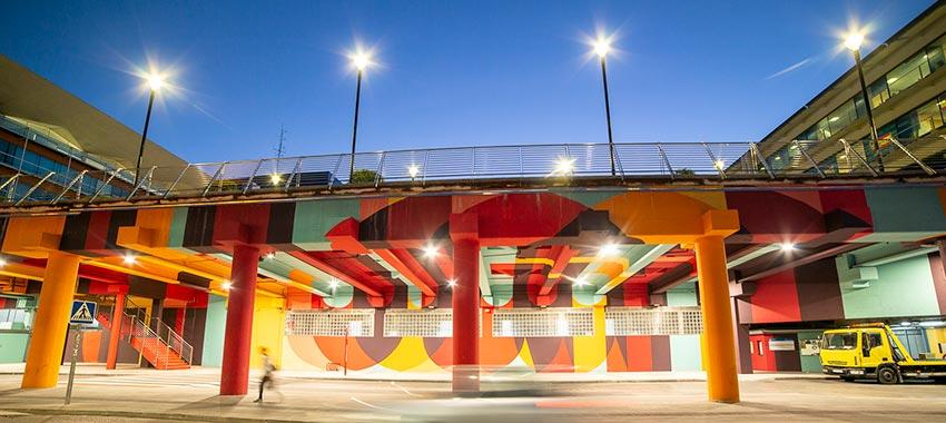 Renovación de la iluminación del aparcamiento del Paseo de Roma en Fuenlabrada