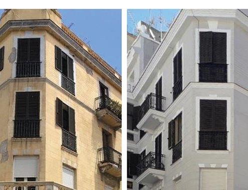 Morteros webercal en la rehabilitación de un antiguo edificio en Ceuta