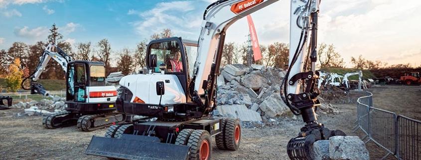 Nueva excavadora de ruedas de 6 toneladas E57W de Bobcat