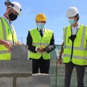 Colocación de la primera piedra del gran centro de servicio Epiroc en Aljustrel, en el sur de Portugal