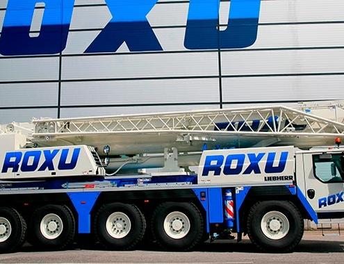 Grúas Roxu adquiere la primera LTM 1150-5.3 de Liebherr en España