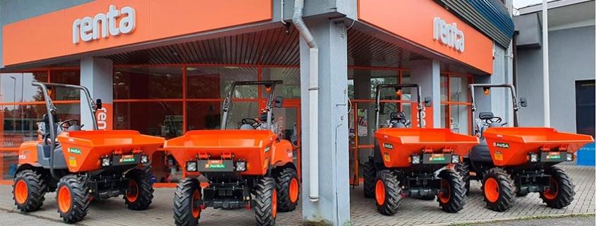 AUSA suministrará dumpers al alquilador Renta Group Oy
