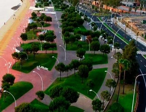 Finaliza la remodelación de la avenida Francisco Montenegro de Huelva