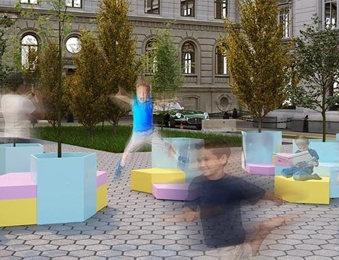 Estudiantes de UIC Barcelona idean prototipo de mobiliario urbano flexible