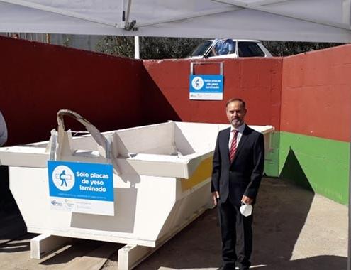 Alcorcón empieza a reciclar yeso con el objetivo de reducir el impacto ambiental del sector