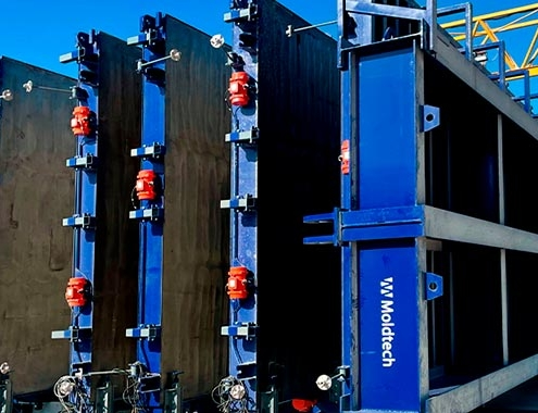 Moldtech diseña un nuevo molde de batería vertical para paneles prefabricados