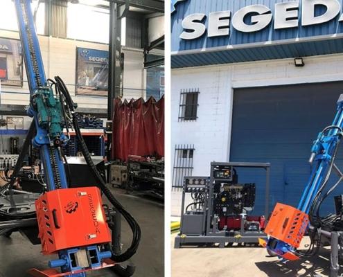Perforadoras hidráulicas de Segeda para trabajos en altura